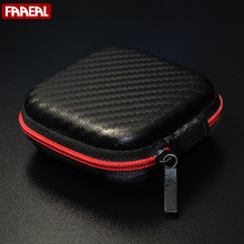 Hot Sale Black Fiber Zipper Headphones Earphone Earbuds Hard case Storage Carrying Pouch bag SD Card Hold box portable Carry Bag