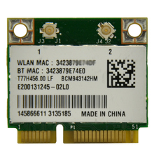 WTXUP para Broadcom BCM943142HM 802.11b/g/n 300 Mbps Mini Metade PCi-E WiFi Adapter + Adaptador Bluetooth 4.0 para DELL/ASUS/Acer/Sony