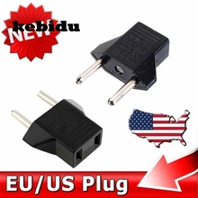 kebidu US To EU Plug USA To Euro Europe Travel Wall AC Power Charger Outlet Adapter Converter 2 Round Socket Input Pin