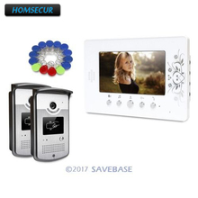 HOMSECUR 7inch Wired Video Door Entry Phone Call System with Intra-monitor Audio Intercom