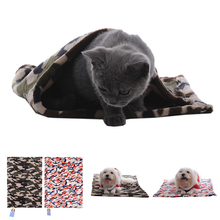 Camouflage Pet Dog Puppy Bed Blanket  Soft Winter Coral Fleece Dog Bed Cover Puppy Cushion Pet Towel Breathable Dog Blanket 1pcs