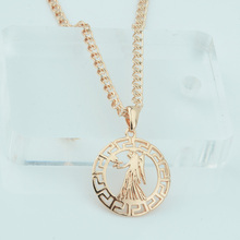 FJ 12 Zodiac Sign Constellation Virgo/Sagittarius Unisex Womens 585 Rose Gold Color Fashion Pendants Necklace Chain(China)
