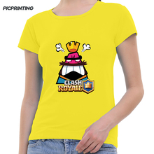 2018 Spring Fashion Game Clash Royale Print T shirt For Women Many Colors Round Neck Modal Girl T-shirt Custom Pattern Tops Tees(China)