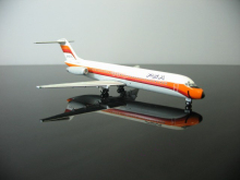 Out of print rare 1: 400 PSA douglas Pacific Southwest Airlines Douglas DC-9 N708PS Alloy aircraft model Collection model