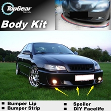 Bumper Lip Deflector Lips For Vauxhall Omega B1 B2 Front Spoiler Skirt For TopGear Friends Car Tuning View / Body Kit / Strip(China)
