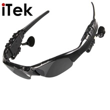 Wireless Flip-up Bluetooth Sunglasses Headset Stereo MP3 Music Glasses Earphone Headphone for Phone Hands-free, Tablet PC(China)