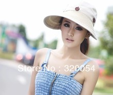 1pcs,2013 summer Uv protection sun hat, a teardown amphibious empty hat, women cloth straw hat,  multicolor, free shipping