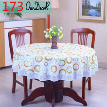 Actionclub Round Table Cloth Flower Pastoral Style PVC Tablecloth Oilproof Decorative Elegant Waterproof Fabric Table Cover 2017