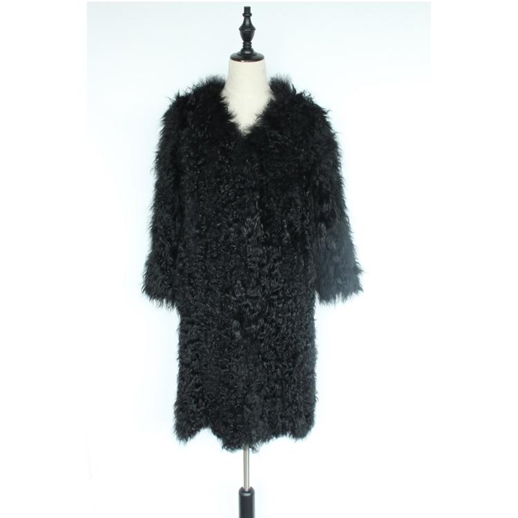 women natural lamb sheep fur coat (15)
