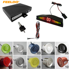 FEELDO 10-Color Car Wireless parking sensor with 6 sensors backup radar #J-2067