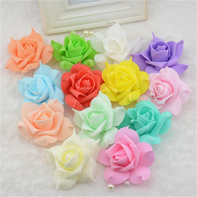 10pcs Foam Artificial flowers Pentagon Rose Hydrangea Flowers For Wedding Car Decoration Wreath Decorative Scrapbooking Flowers