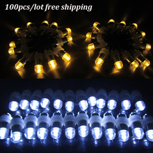100 Pcs Lot Led Ball Lamps Waterproof Balloon Lights for Paper Lantern Party Wedding Centerpieces Decoration Vases High Quality(China)