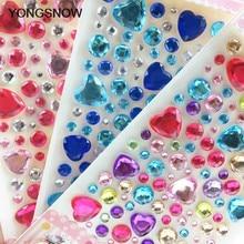 1Pcs Heart Rhinestone Crystal Stickers Mobile Phone PC Decoration DIY Craft  Scrapbooking Stickers Flatback Strass c7bdea467c72