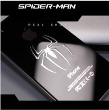 2 pcs Hot spider man reactor metal stickers 3D spider man Metal Sticker phone stickers Car Computer Mobile Cell Phone sticker