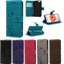 New Retro Butterfly Design Folio Leather Wallet Case Cover with Strap for Apple iPhone 4/5S/ 6S/7+ Plus Touch5/6