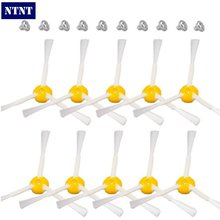 NTNT 10 pcs Side Brush 3-armed+ 10 Screws for iRobot Roomba 500 600 700 Vacuum Cleaners 510 530 532 550 560 620 625 760 770 780