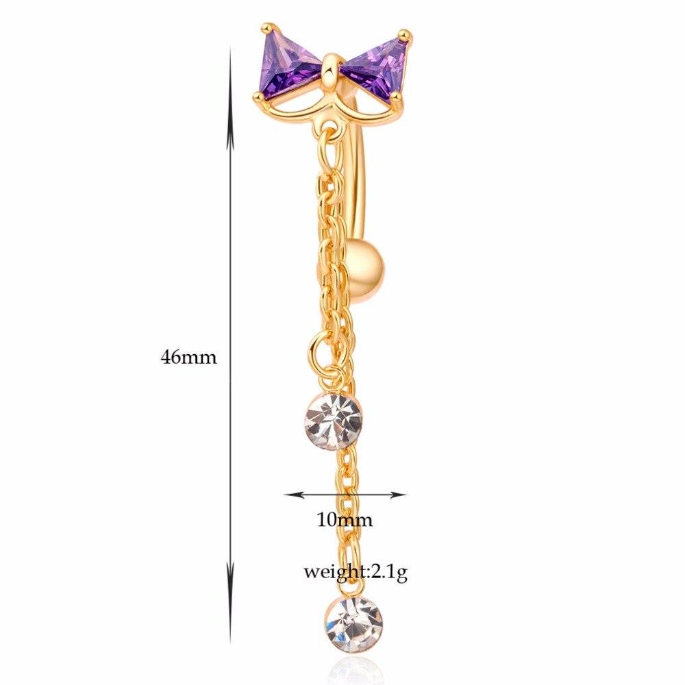 316L Stainless Steel Jeweled Bow Tie Black Kitten Nipple Bar