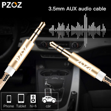 PZOZ aux cable 3.5mm jack Audio Cable Car AUX Cord For iPod nano Touch 5 iPhone Samsung Xiaomi MP3/4 Audio Transfer Extension