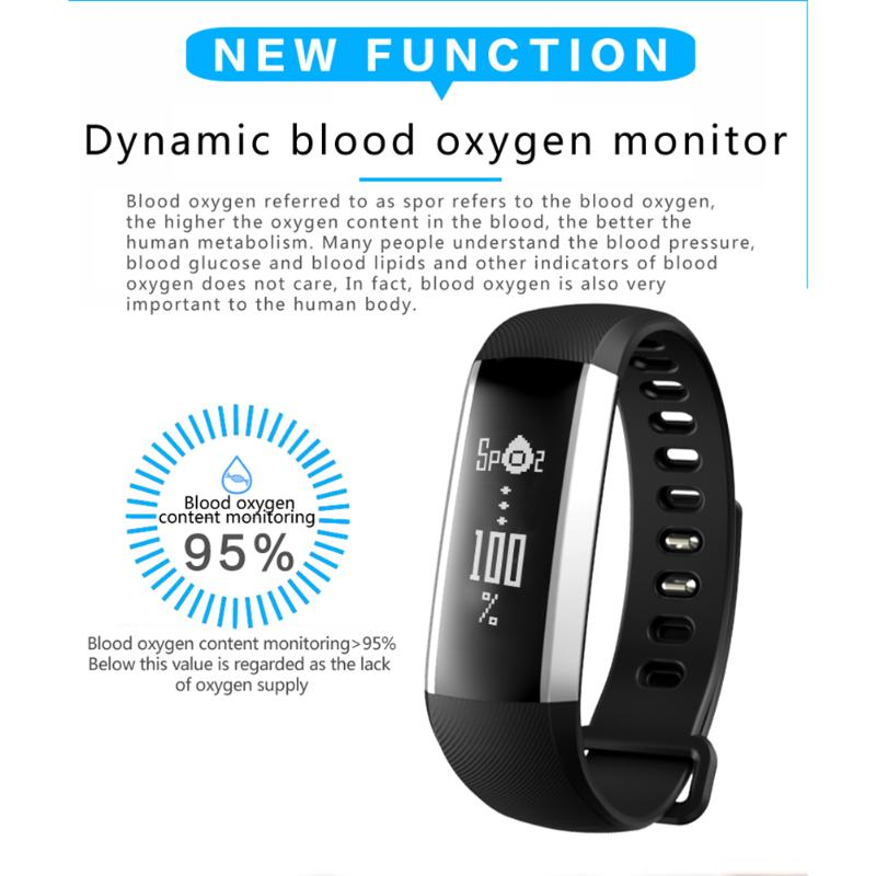 Sport Smart Band Bracelet Bluetooth 4.0 Heart Rate Sleep Blood Pressure Monitor Fitness Tracker Waterproof Smart Wristband