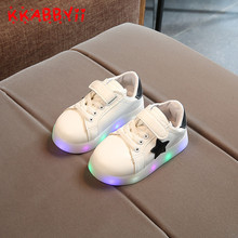 KKABBYII Girls Shoes New kids Fashion Leisure Comfortable Bright Basket Led Boys Glowing Sneakers Children Shoes With Light