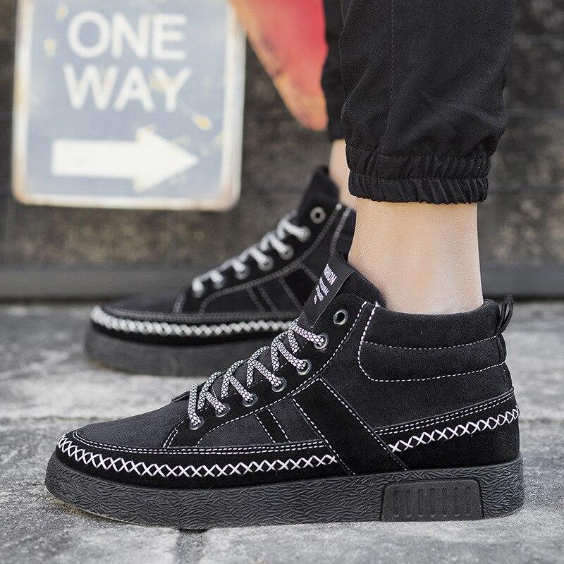 male plus size high quality platform trainer mens fashion black street walk shoes zapatos hombre leisure lace up shoes<br><br>Aliexpress