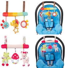0-12 Months Baby Toys Animal Stroller Rattles Toys Seat Accessories Soft Plush Bed Hanging Rattles Baby Sleep Appease Toy