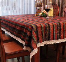 National stripe table cloth, Bohemian table cloth, bar supplies, household items