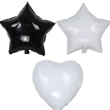 18inch white&black star heart balloon Foil Helium Balloons Wedding Birthday Party decorations Decor Baloons Event Party balloon