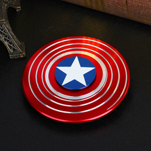 Super Hero Figure Toys Hand Spinner Metal Finger Stress Spinner Tri-spinner Triangular High Light Captain America Shield(China)