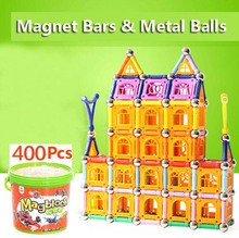 400 pcs Bottled DIY Magnetic building blocks magic magnet pulling magnetic building blocks assembled gifts for children(China)