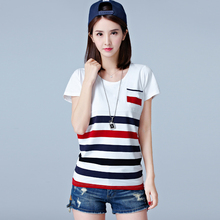 Buy shintimes Camisetas Mujer Verano 2018 Summer Casual T Shirt Women Vintage Striped Moda T-Shirt Female Tshirt Womens Clothing for $11.24 in AliExpress store