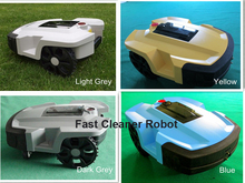 Robot Grass Cutter, Automatic Grass Trimmer with 2PCS Lithium ,24V 8Ah+4pcs cutting Blade,Three covers for super waterproof