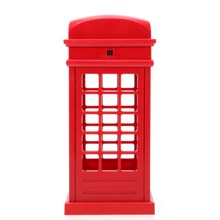 Energy Saving Retro London Telephone Booth Night Light USB Battery Dual-Use LED Bedside Table Lamp VES94 T0.2