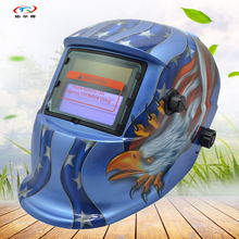 Welding Helmet blue eagle Semi-automatic Mask Animal auto darkening Welder mask Machine Printing Battery Arc Tig HD54(2233DE)(China)