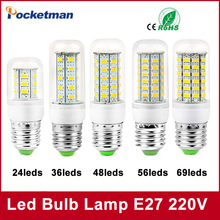 1Pcs E27 E14 LED Corn Bulb 220V 110V SMD5730 LED lamp Spotlight 24LED 36LEDs,48LEDs,56LEDs,69LEDs For led light free shipping(China)