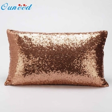 Ouneed Sequins cheap Festival Pillow Case Cushion Cover u61028 DROP SHIP(China)
