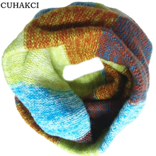 CUHAKCI Scarves Designer Wraps Autumn Scarf Winter Women Ski Warm Shawl Neck Thicken Super Elastic Circle Ring scarves 2017