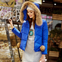 BOSIDENG women's clothing duck down coat winter jacket fur collar hoodie wide-waisted fashion outwear high quality B1501170(China)