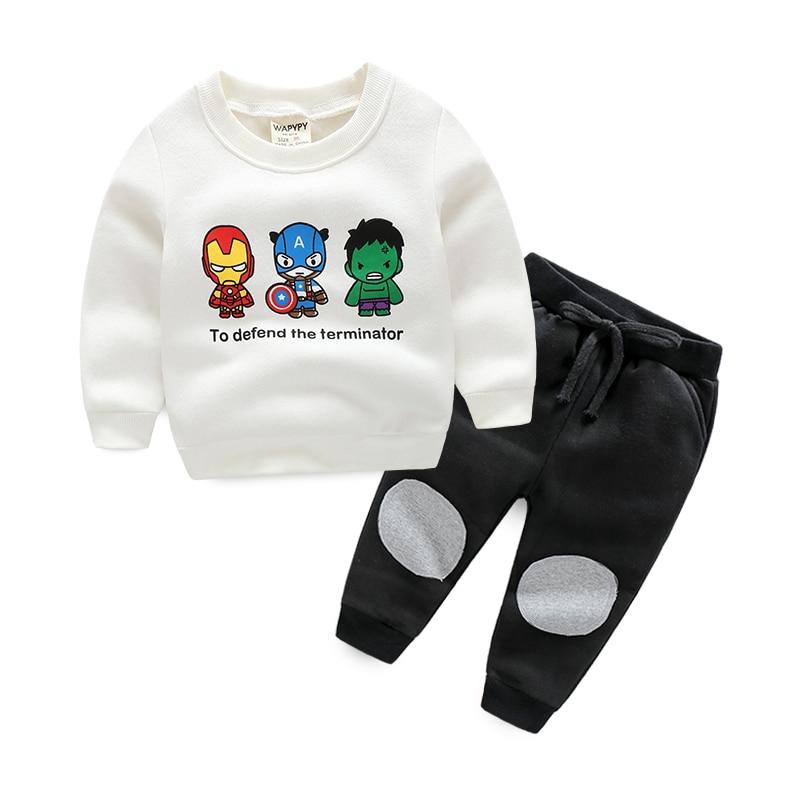 Kids sets boys clothing set cartoon fleece sports set pullover sweatshirts + pants baby boys twinset <br><br>Aliexpress