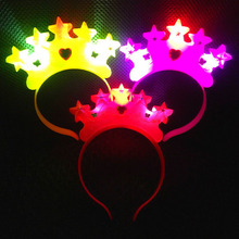 2017 Light-Up Crown Star Headband Blinking LED Flashing Party Birthday Weddings Carnival Decoration Halloween