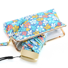 Japanese Flower Pattern Package Mini Quality Sunny Rainy Fashion Creative Folding Brand Umbrella Women Female With Exquisite Bag(China)