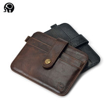 Slim leather multi-card-bit pack bag men Wallet Creadit Card Holder bank cardholder leather cow pickup package bus card holder