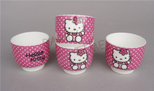 Hello Kitty Cup, Burgundy Hello Kitty Pattern Tea Cup for Home, Wedding, Children