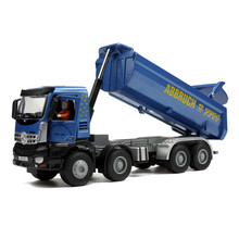 1:50 Diecast Metal Dumper Alloy Toy Car Engineering Vehicle Lifting Carriage Truck Model Toys For Collection Boys Brinquedos(China)