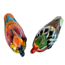 Marked Chinese Resin FengShui Animal Symbolize Mandarin Duck Pair Sculpture Statue(China)