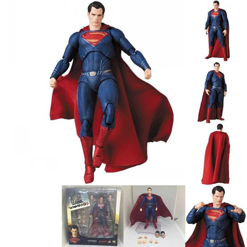 Medicom Toy MAFEX 057 DC Superman Action Figure Toys Movie Cosplay Variable Figuras Dolls Kids Friends Gift 16cm (5)