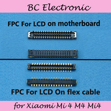 FPC connector for Xiaomi Mi 4 M4 Mi4 logic on motherboard mainboard&on the flex cable Free Shipping(China)