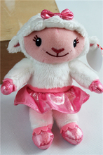 Original Doc Mcstuffins Pink Sheep Cute Stuff Animal Plush Toy Doll Kids Birthday Gift 18cm(China)
