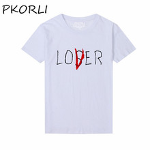 Pkorli Pennywise 2017 Movie It Losers Club T Shirt Men Women Casual Cotton Short Sleeve Loser Lover It Inspired T-Shirt Tops(China)
