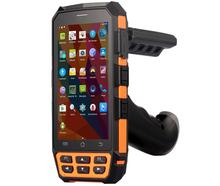 PDA Fingerprint Scanner Reader UHF Handheld Terminal with Pistol Grip Laser Barcode Android 5.1 Scanner Rugged Phone 4G 2GB RAM